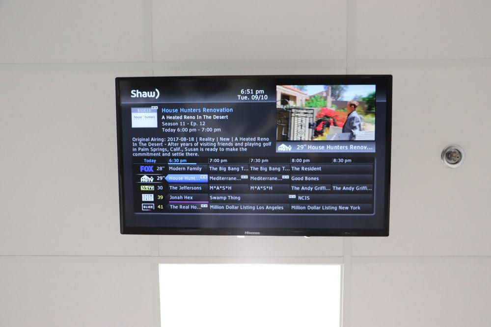 Watch cable TV during dental appointments