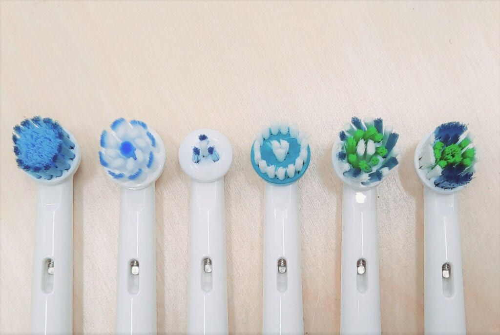 Different electric brush heads